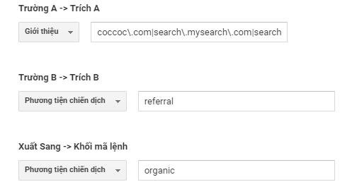Bước 6 - Hướng dẫn cách thống kê Cốc Cốc vào Organic Search trên Google Analytics.