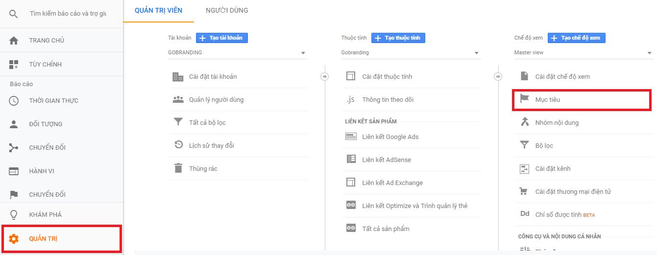 Hướng dẫn đo event click trên website bằng Google Analytics: mục tiêu event