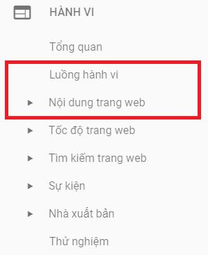 Xem báo cáo về hành vi người dùng trên Google Analytics.