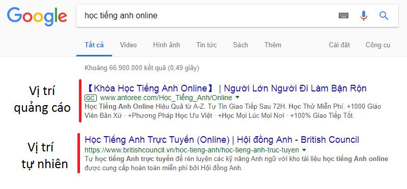 SEO website là giải pháp marketing online giúp hiển thị ở vị trí tự nhiên.